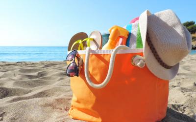 Beauty case delle vacanze al mare