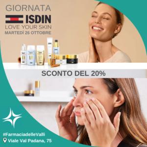 giornata promozionale ISDIN presso la farmacia delle Valli, Talenti